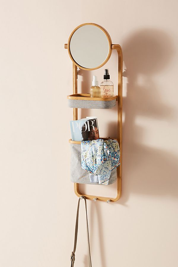VANITY STORAGE WALL SHELF - Decorating Small Spaces