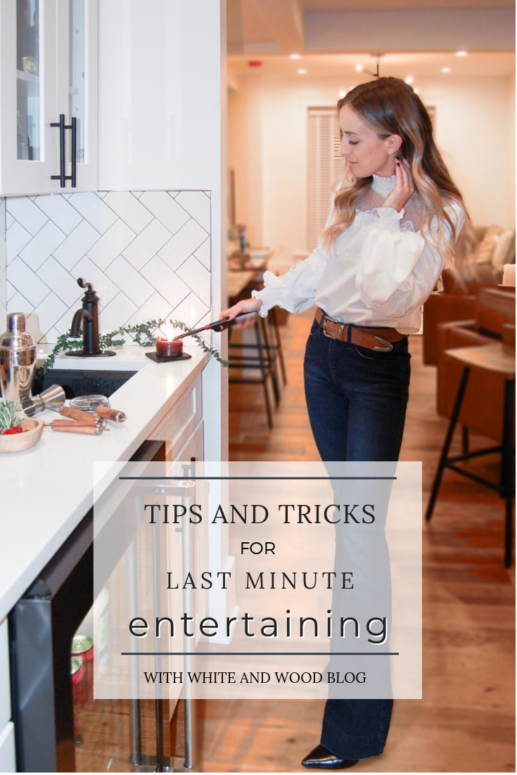 items to keep on hand for last minute entertaining