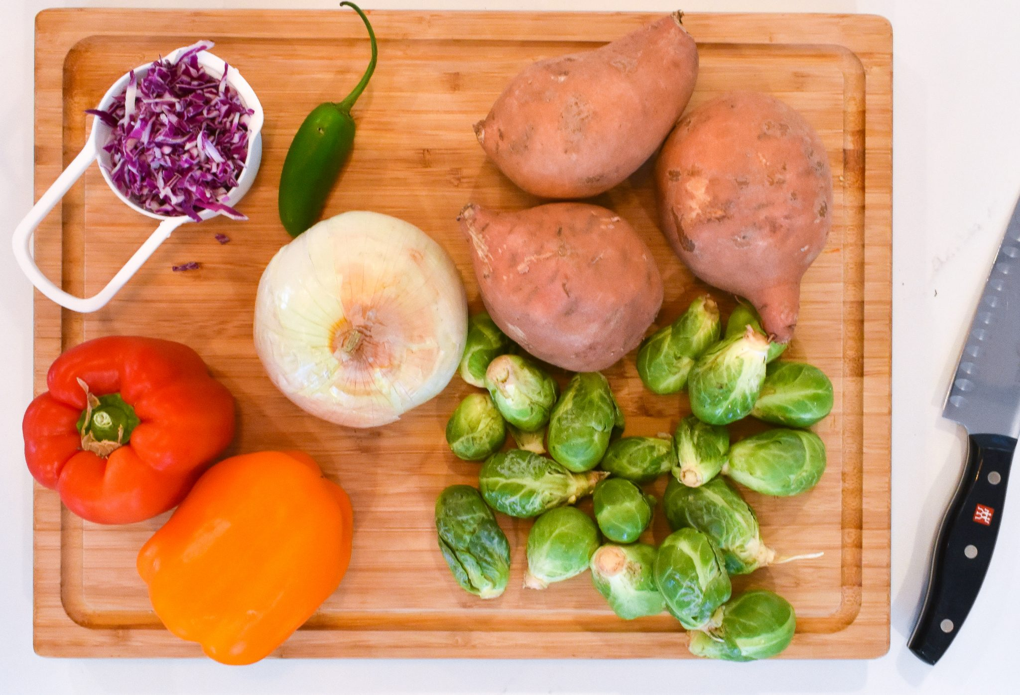 Sweet Potato and Brussel Sprout Casserole