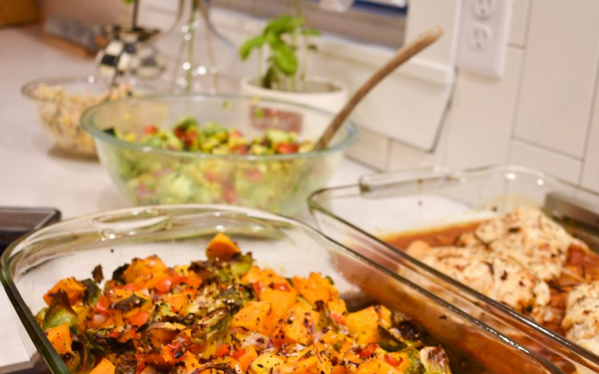 sweet potato and brussell sprouts