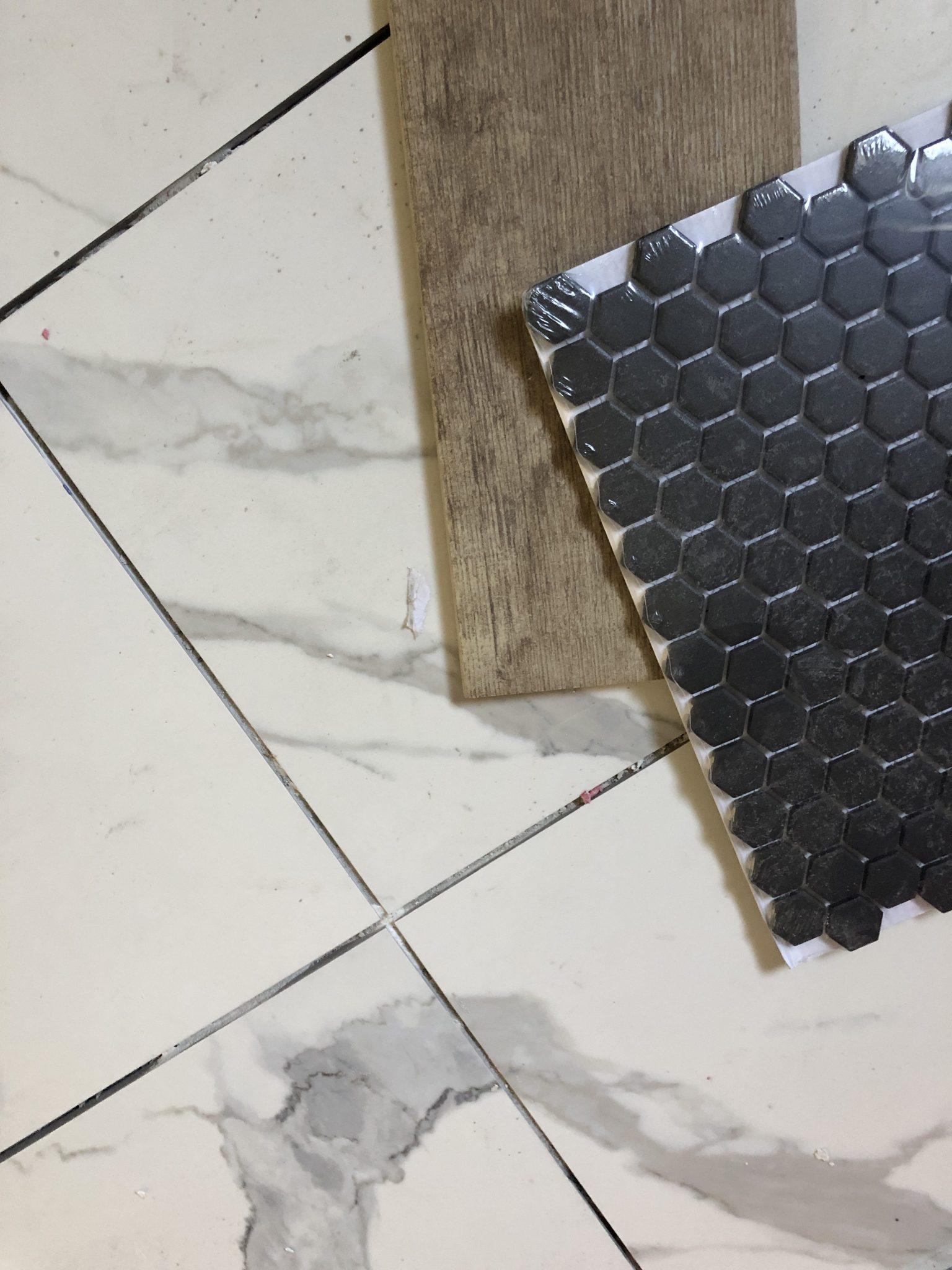 Black: Master Bathroom Tile Inspiration