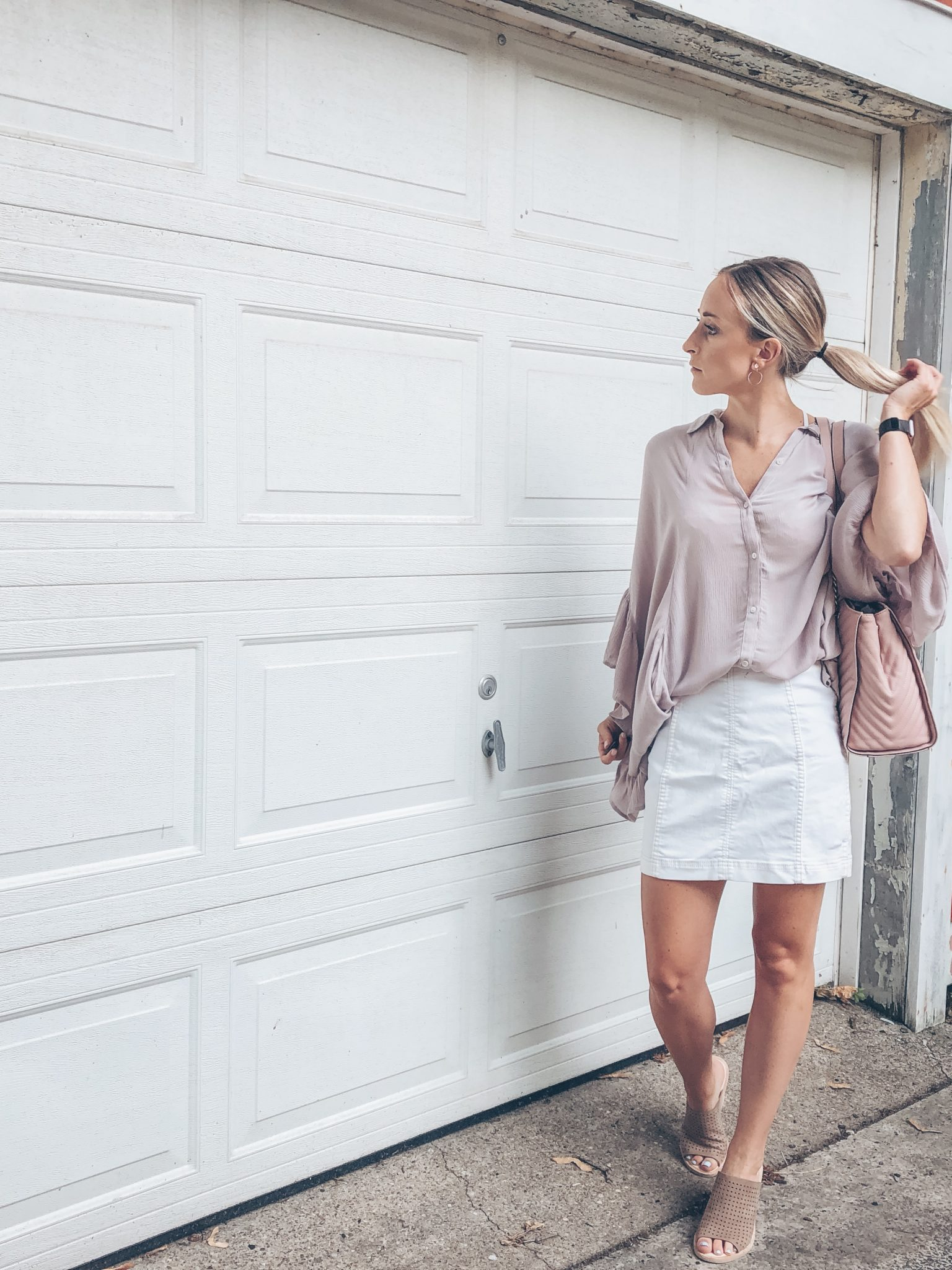 Lavender free people blouse top