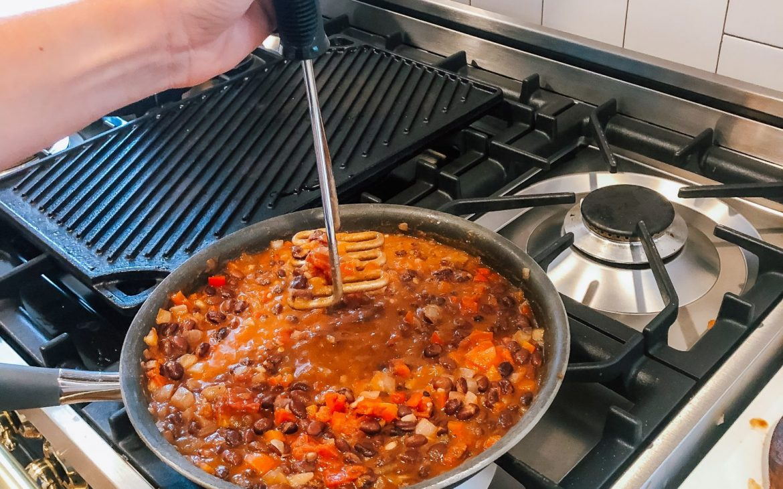 Cajun Refried Black Beans