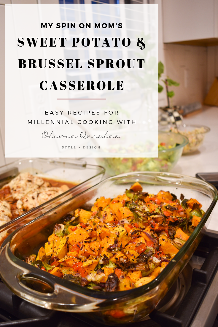 sweet potato brussell sprout casserole pinterest