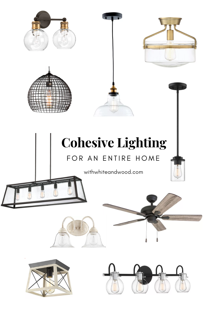 mixing styles of interior design - cohesive unique lighting